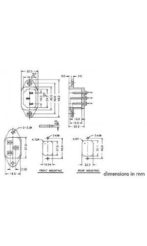 Base Hembra para Chasis 6A/250V - Base Hembra para Chasis 6A/250V  ref: pscm1