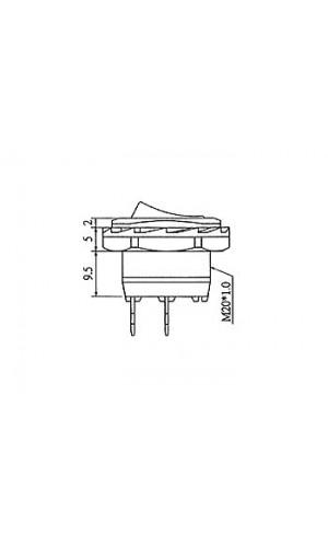 Interruptor Basculante 6A 250V - Interruptor de potencia basculante  6A-250V SPST ON-OFF.Ref: r1945b