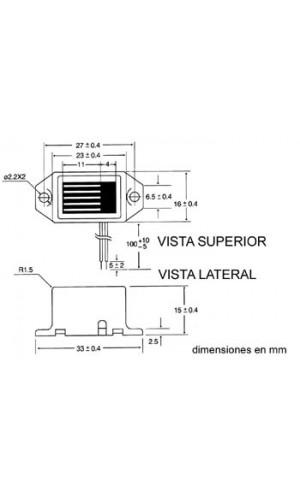 Zumbador Electrónico 7-17Vdc - Zumbador Electrónico 8 -16 Vdc / 15mA Cableado ref: bz-14