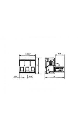 Regleta Hembra enchufable 3C 300W 10A - Regleta Hembra enchufable 3C 12AWG 300W 10A  ref: tenf03