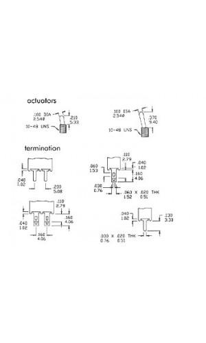 Conmutador Subminiatura - Conmutador subminiatura.Ref: ts-4