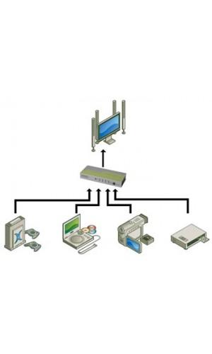 Conmutador HDMI V1.3 - 4X1 - Conmutador  HDMI V1.3 - 4 x 1,con mando a distancia.Ref: vash1
