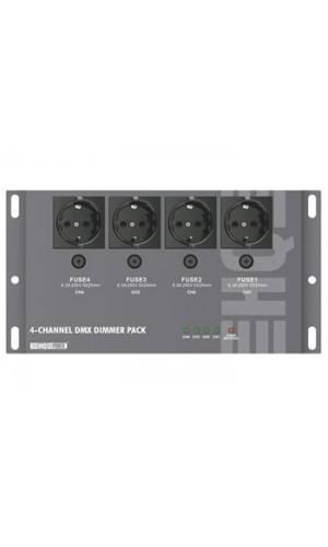 Dimmer Pack DMX 4 canales - Dimmer Pack  DMX DE 4 canales (4 x 5A).Ref: vdpdp152