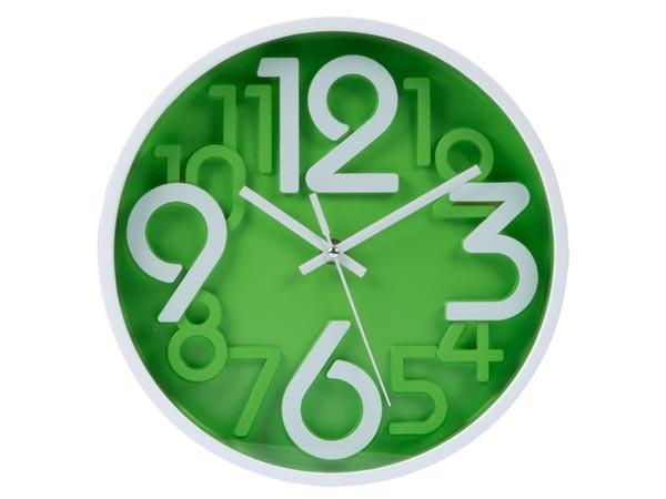 Reloj mural 3D - Ø 25 cm verde