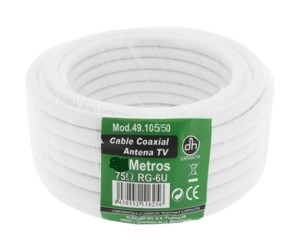 Rollo cable Coaxial 50 mts