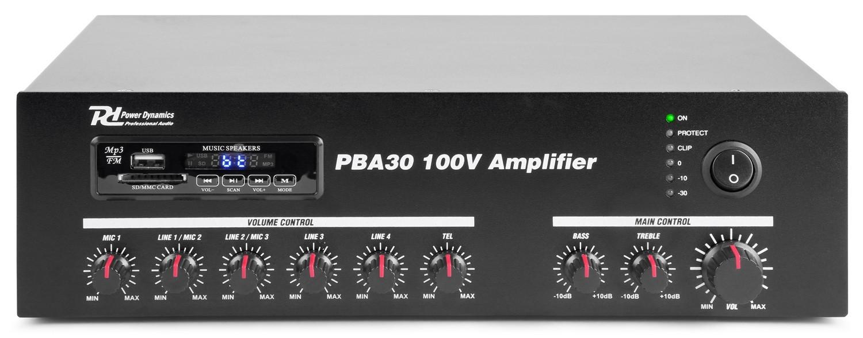Amplificador 30W RMS - Línea de 100V - Amplificador 30W RMS - Línea de 100V.Modelo PBA30
