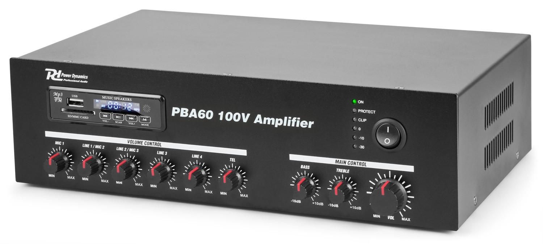 Amplificador 60W RMS - Línea de 100V - Amplificador 60W RMS - Línea de 100V.Modelo PBA60