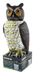 Ahuyenta palomas 15×18×40 cm - Estatua buho ahuyenta palomas, movimiento circular de su cabeza accionado por el viento.Ref: 60.298-buho