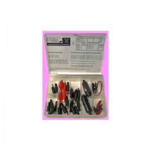 Juego surtido conectores - Estuche de plástico con un surtido de conectores varios.Ref: c9454