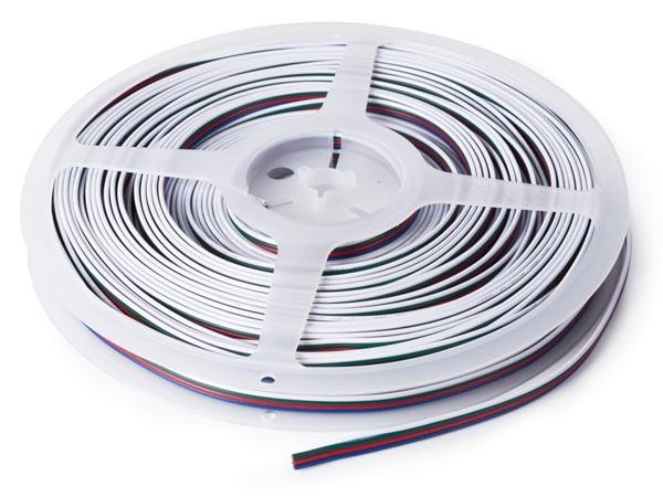 Cable RGB para cintas de leds de 4 conductores