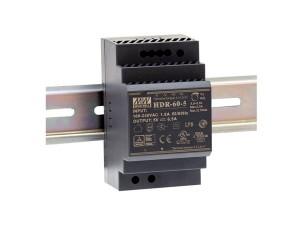 Fuente de alimentación conmutada,DIN 24 V 2.5 A - Fuente de alimentación conmutada,montaje en carril DIN 24 V 2.5 A.Ref: hdr-60-24