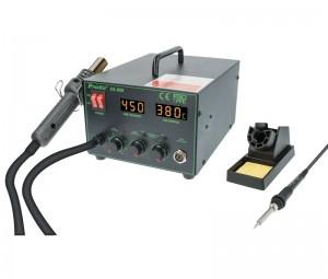 Estación de soldadura y aire caliente para SMD - Estación repair de soldadura y aire caliente para SMD Proskit.Ref: hrv6653
