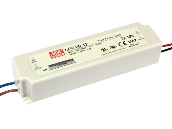Fuente alimentación conmutada - 1 Salida- 60 W - 12 V