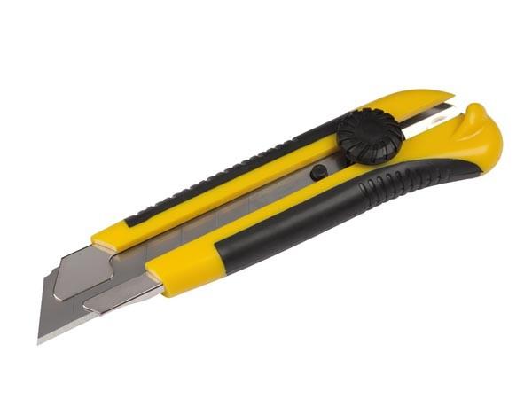 Cutter Robusto de 25 mm - Robusto  Cutter - Hoja 25 mm - con bloqueo de seguridad