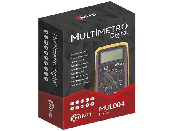 Multimetro Digital de Alta Precisión - Multímetro digital de alta precisión Nimo modelo MY64