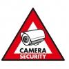 Pegatinas de seguridad de 123 x 148 mm - Pegatina de cámara de seguridad de 123 x 148 mm (paquete de 5 unidades .Ref: sas-st-cs