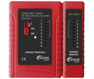 Tester de Conexiones Modulares Tipo RJ - Tester de Conexiones Modulares Tipo RJ.Ref: tes010