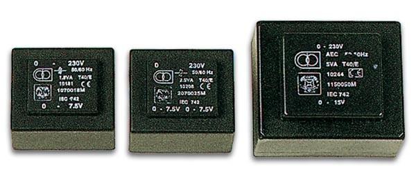 Transformador 12VA. 1 x 24V  0.500A
