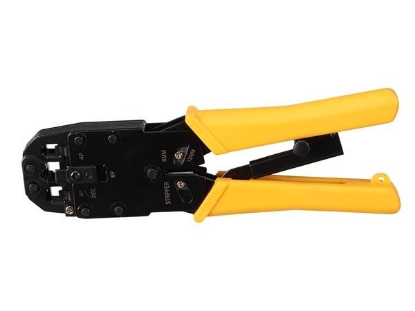 Alicates para crimpar 4P4C, 4P2C (RJ10) - Alicates profesional para crimpar conectores telefónicos modulares RJ10 - RJ11 - RJ12 - RJ45