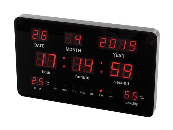 Reloj de pared con leds