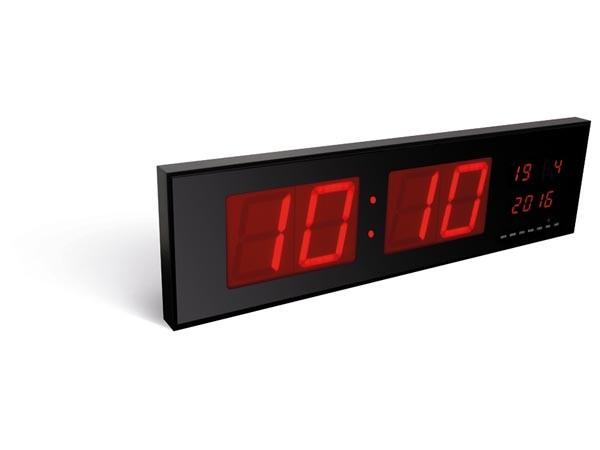 Reloj de pared con leds - Reloj en formato fecha y hora de 24H
