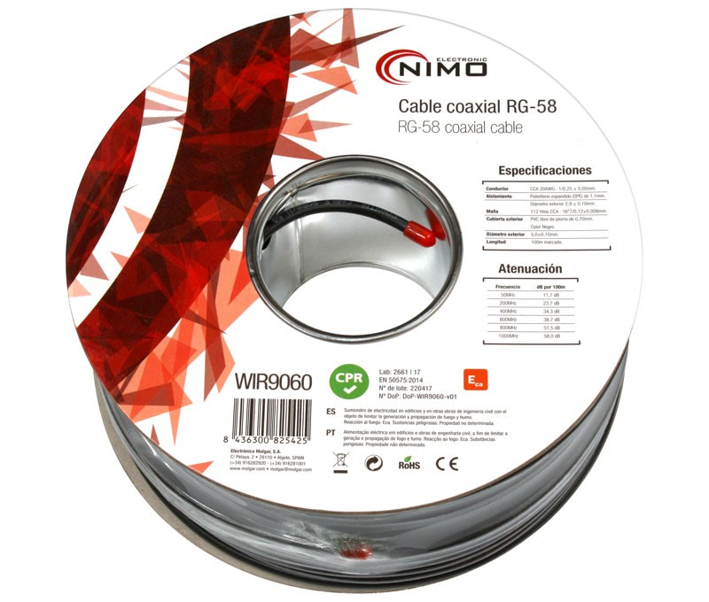 Rollo 100 mts Cable Coaxial RG59 - 75 Ohm