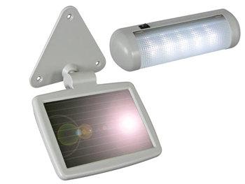 luz alimentada con placa solar velleman